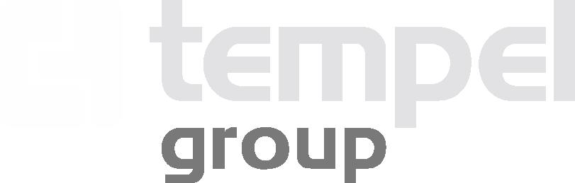 Logo Tempel Group Aplicación Fondo Negro